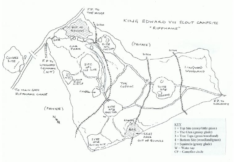 King Edward VIII Scout Park_map